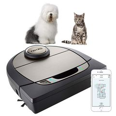 Neato Robotics D750 Exclusive Pet Edition - Robot vacuum cleaner with charging station, Wi-Fi & App - Compatible with Alexa
