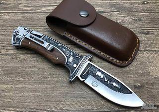 Μαχαίρι πτυσσόμενο + δερμάτινη θήκη - Columbia A3191
