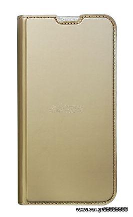 POWERTECH Θήκη Βook Elegant MOB-1474 για Huawei Y7/Prime/Pro 2019, χρυσή