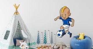 Ποδοσφαιριστής σε καρτουνίστικο στυλ Μεγάλο