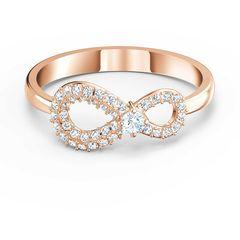 Swarovski Swarovski Infinity Δαχτυλίδι, Επιροδιωμένο-Ροζ Χρυσό Με Κρύσταλλα 5518873