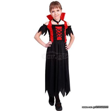 Αποκριάτικη Παιδική Στολή  Δράκουλα  Κοριτσίστικη  Α3-6014Ν