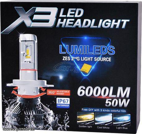 H4 Led System X3 1860 SMD 9-32V 2τμχ