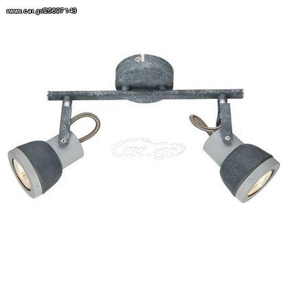 ACA LED Φωτιστικά Οροφής > Οικιακά Φωτιστικά Μεταλλικό Αποχρ. Τσιμέντου GU10 330 x 185 mm IP 20 MC167792C