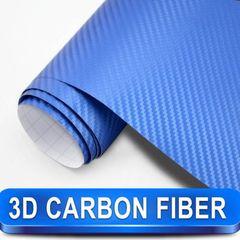 Διακοσμητική Αυτοκόλλητη Ταινία 3D Carbon - Ρολό 75×200cm Μπλε