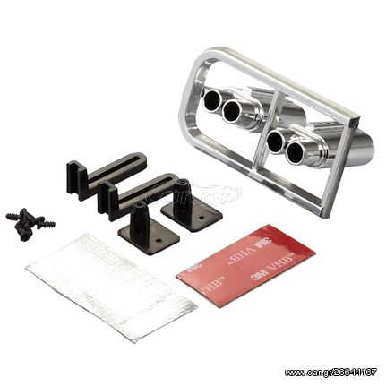 Killerbody Double Exhaust Set Chrome for LED Installation