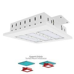 Spotlight Φωτιστικό Βενζινάδικου LED 150W 6000K Σε Λευκό Χρώμα , 5832