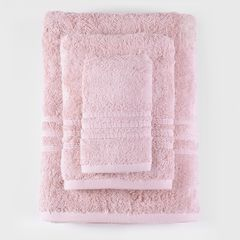 Σετ Πετσέτες Μπάνιου 5 Τεμ. Βαμβάκι Πενιέ RYTHMOS Aria Pink 08