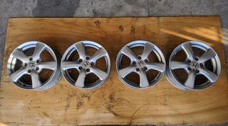 Τετράδα ζάντες αλουμινίου 16'' (5X114.3), γνήσιες μεταχειρισμένες, από Honda Civic 2003-2014, για Honda Jazz 2001-2008, Honda CRV 2000 - 2011