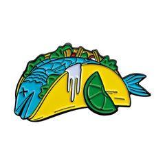 Biltwell enamel pin Fish Taco CMYK