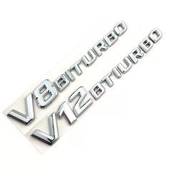 Σήματα V8 V12 biturbo με αυτοκόλλητο.