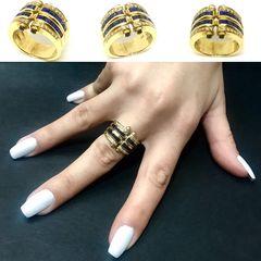 Δαχτυλιδια 18k με Ζαφειρια