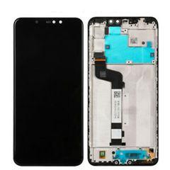 Οθόνη Με Mηχανισμό Αφής Και Πλαίσιο Με Αυτοκόλλητες Ταινίες Xiaomi Redmi Note 6 Pro Μαύρο OEM