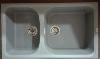 Νεροχύτης κουζίνας PYRAMIS 86Χ50, 2 γούρνες-γρανίτης
