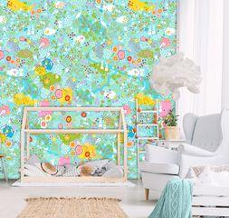 Παιδική ταπετσαρία τοίχου 2x3m BEHANG KAY & LIV Secret Garden Blue (#INK7019)