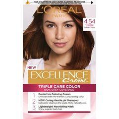 L'Oreal Excellence Creme Triple Care Color 4.54 Natural Dark Copper Mahogany L'Oréal