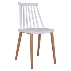 Καρέκλα VANESSA λευκή με μεταλλικά πόδια 0505943