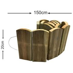 Roll bar με ξύλο πλάκα - 150x20cm-Tesias Wooden Products