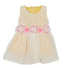 Φόρεμα με κέντημα  (Κίτρινο)