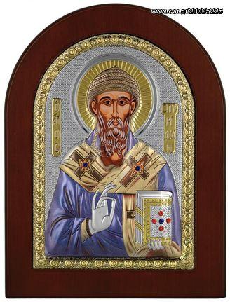 Ασημένια Εικόνα Αγίου Σπυρίδωνος MA-E1111-X-C