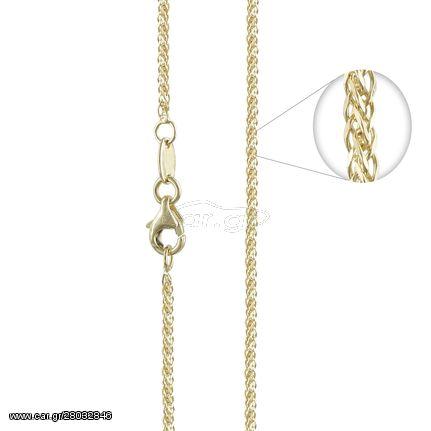 Κίτρινη Χρυσή Αλυσίδα Σπίγγα #3 AL112 k14 45cm