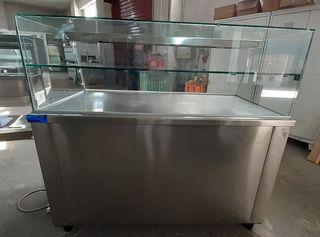 Θερμαινόμενη βιτρίνα 1,40m Ιnox