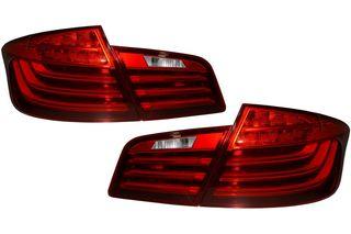 ΟΠΙΣΘΙΑ LED ΦΑΝΑΡΙΑ LCI-DESIGN ΓΙΑ BMW 5 SEDAN (F10) (RED/CLEAR)