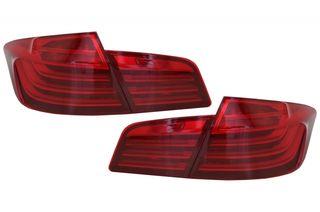 ΟΠΙΣΘΙΑ LED ΦΑΝΑΡΙΑ LCI-DESIGN ΓΙΑ BMW 5 SEDAN (F10) (RED-WHITE LINE)