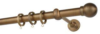 Κουρτινόβεργα Zogometal E0058 Single -Double Rail σε χρώμα νίκελ ματ/ χρυσό ματ/ μπρονζέ .