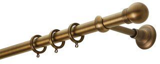 Κουρτινόβεργα Zogometal CL0074 Single Tube - Double Rail σε χρώμα  νίκελ ματ/χρυσό ματ/μπρονζέ.