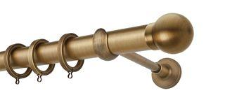 Κουρτινόβεργα Zogometal E0058 Φ35 Single Tube  - Double Rail σε χρώμα νίκελ ματ, χρυσό ματ και μπρονζέ.
