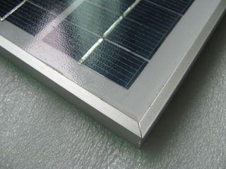 12V Ηλιακό πανελ High Tech φόρτισης μπαταρίας 5W πλαίσιο αλουμινίου