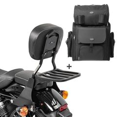 Harley Sportster αποσπώμενη πλάτη συνεπιβάτη με σχάρα και τσάντα 883 2004-2015