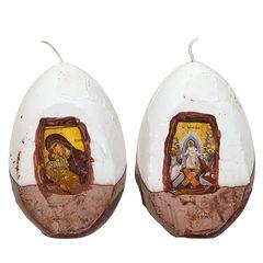 Κερί Αυγό 12cm με Εικόνα - Αγιογραφία , 73-515 Παναγία - Cb