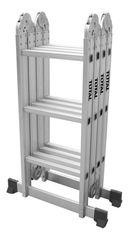 Total THLAD04431  Επαγγελματική Πολυμορφική Σκάλα Αλουμινίου (4x3 Σκαλοπάτια)