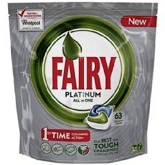 Fairy Caps Platinum Πλυντηρίου Πιάτων Λεμόνι 63 καψουλες