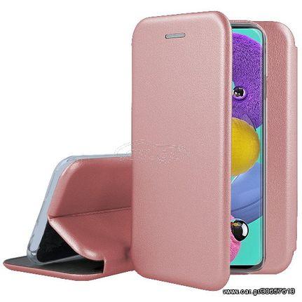 Smart Diva Book Case με Δυνατότητα Στήριξης - Rose Gold (Samsung Galaxy A21s)