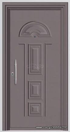 Παραδοσιακή θωρακισμένη πόρτα αλουμινίου Alfa SA 5450