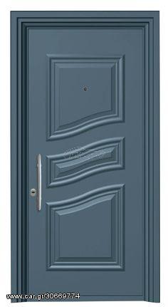 Παραδοσιακή θωρακισμένη πόρτα αλουμινίου Alfa SA 5510