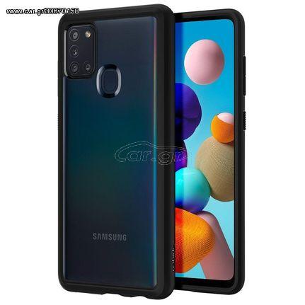 Spigen Ultra Hybrid Case (ACS00976) Clear / Matte Black (Samsung Galaxy A21s)