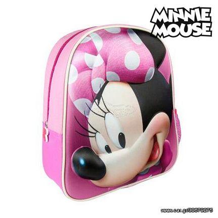 Σχολική Τσάντα 3D Minnie Mouse 8096