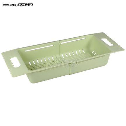 Στεγνωτήρας Νεροχύτη Πλαστικός Ρυθμιζόμενος Λαδί 50x7,5cm 1.3088GR