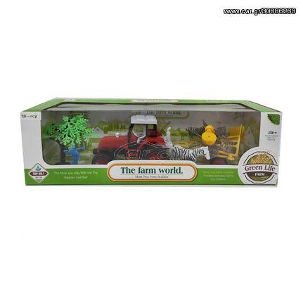 Σετ Τρακτερ Σε κουτί με Δεντράκια και Ζώα της Φάρμας  38cm x 11cm x 12cm 986-102B
