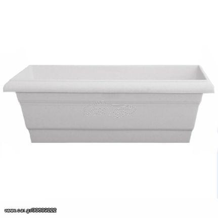 Ζαρντινιέρα Άνθεα Νο.413 Κεραμική 100x21x27cm Λευκή Home - Style 101413-10
