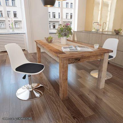 Καρέκλες Τραπεζαρίας Περιστρεφόμ. 2 τεμ. Ασπρόμαυρες Δερματίνη