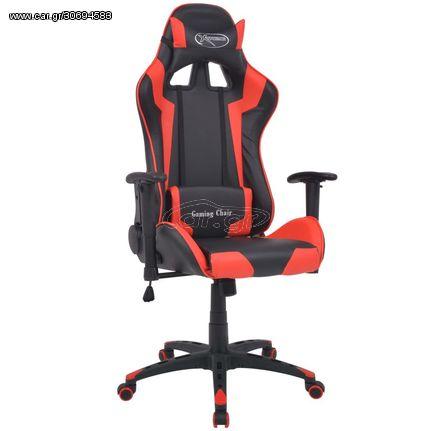 Καρέκλα Γραφείου Racing Ανακλινόμενη Κόκκινη Συνθετικό Δέρμα