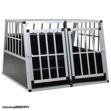 Κλουβί Σκύλου με Διπλή Πόρτα 94 x 88 x 69 εκ.