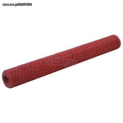 Συρματόπλεγμα Εξάγωνο Κόκκινο 25x1,2 μ. Ατσάλι με Επικάλυψη PVC