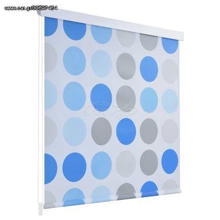 Κουρτίνα Μπάνιου Ρολό Σχέδιο Κύκλοι 100 x 240 εκ.