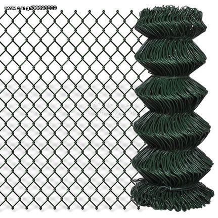 Συρματόπλεγμα Περίφραξης Πράσινο 0,8x25 μ. Γαλβανισμένο Ατσάλι